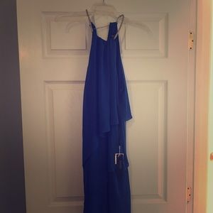 Blue mid length dress